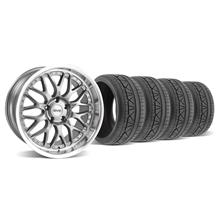Mustang SVE Series 3 Wheel & Tire Kit - 19x9/10 Gun Metal (05-14)