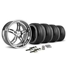 Mustang SVE Series 2 Wheel & Tire Kit - 20X8.5/10 Chrome (15-16)