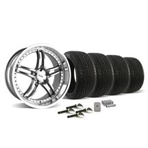 Mustang SVE Series 2 Wheel & Tire Kit - 20X8.5/10 Gunmetal w/ Mirror Lip (15-16)