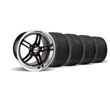 "Mustang SVE Series 2 Wheel & Tire Kit - 18x9/10"" Black w/ Polished Lip (94-04)"