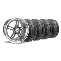 "Mustang SVE Series 2 Wheel & Tire Kit - 18x9/10"" Gun Metal w/ Polished Lip (94-04)"