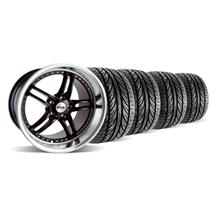 "Mustang SVE Series 2 Wheel & Tire Kit - 19x9/10"" Black w/ Polished Lip (05-14)"