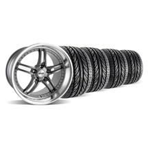 Mustang SVE Series 2 Wheel & Tire Kit - 19x9/10 Gun Metal w/ Polished Lip (05-14)