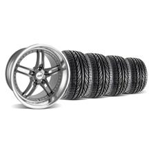 Mustang SVE Series 2 Wheel & Tire Kit - 19x9/10 Gunmetal w/ Polished Lip (05-14)