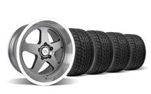 Mustang Saleen SC Wheel & Tire Kit - 18x8.5/10 Gun Metal w/ Mirror Lip (94-04)