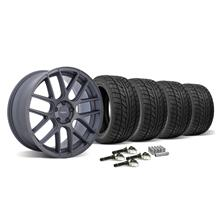 Mustang Velgen VMB7 Wheel & Tire Kit - 20x9/10.5 Matte Gun Metal (2015)
