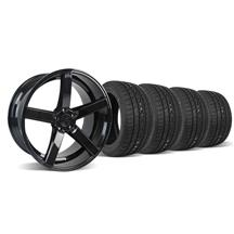 Mustang DF5 Wheel & Tire Kit - 20x8.5 Piano Black (05-14)