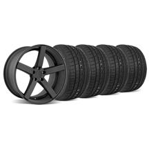 Mustang DF5 Wheel & Tire Kit - 20x8.5 Flat Black (05-14)
