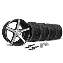 Mustang 685 District Wheel & Tire Kit - 20x8.5/10.5 Black w/ Machined Face (2015)