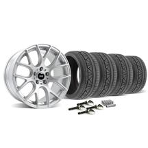 Mustang SVE Drift Wheel & Tire Kit - 19X9.5 Silver (2015)