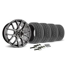 Mustang SVE Drift Wheel & Tire Kit - 19X9.5 Dark Stainless (2015)