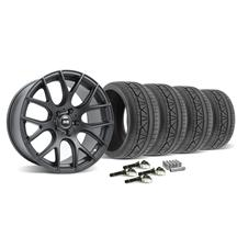 Mustang SVE Drift Wheel & Tire Kit - 19X9.5 Flat Black (2015)