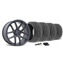 Mustang Velgen VMB5 Wheel & Tire Kit - 20x9/10.5 Matte Gun Metal (2015)