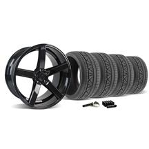 Mustang DF5 Wheel & Tire Kit - 20x8.5/10 Piano Black (2015)