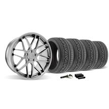 Mustang Downforce Wheel & Tire Kit - 20x8.5/10  Platinum (2015)