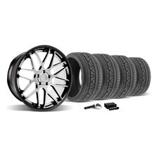 Mustang Downforce Wheel & Tire Kit - 20x8.5/10  Black w/ Machined Face (2015)