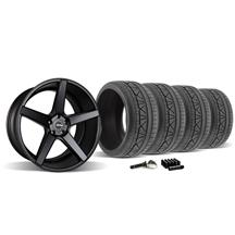 Mustang KMC 685 District Wheel & Tire Kit - 20x8.5/10.5 Satin Black (2015)