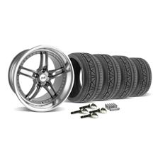 Mustang SVE Series 2 Wheel & Tire Kit - 19x9/10 Gun Metal (2015)