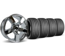99-04 Lightning Chrome Wheel and Tire Kit