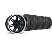 Mustang SVE Anniversary Wheel & Tire Kit - 17x9 Black (94-04)