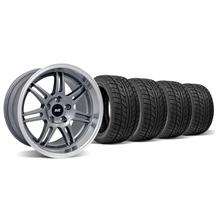 Mustang SVE Anniversary Staggered Wheel & Tire Kit Anthracite - 17x9/10 (94-04)