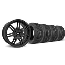 Mustang SVE Anniversary Wheel & Tire Kit - 17x9 Flat Black (94-04)
