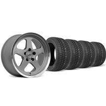 Mustang SC Wheel & Tire Kit - 17x9 Silver (94-04)