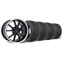 Mustang FR500 Wheel & Tire Kit - 17x9 Black (94-04)