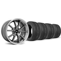 Mustang Staggered FR500 Wheel & Tire Kit - 17x9/10.5 Anthracite (94-04)