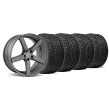 Mustang DF5 Wheel & Tire Kit - 20x8.5 Matte Gunmetal (05-14)