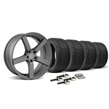 Mustang DF5 Wheel & Tire Kit - 20x8.5/10 Matte Gun Metal (2015)