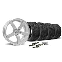Mustang DF5 Wheel & Tire Kit - 20x8.5/10 Silver (2015)