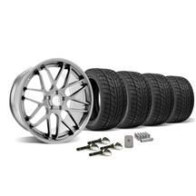 Mustang Downforce Wheel & Tire Kit - 20x8.5/10  Platinum (15-16)