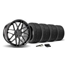 Mustang Downforce Wheel & Tire Kit - 20x8.5/10  Matte Black (2015)