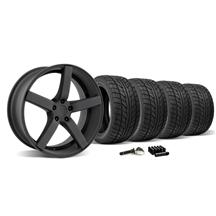 Mustang DF5 Wheel & Tire Kit - 20x8.5/10 Flat Black (2015)