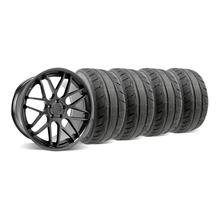 Mustang Downforce Wheel & Tire Kit - 20x8.5/10 Matte Black (05-14)