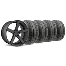 Mustang DF5 Wheel & Tire Kit - 20x8.5/10 Flat Black (05-14)