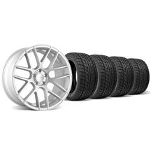 Mustang Velgen VMB7 Wheel & Tire Kit - 20x9/10.5 Silver (05-14)