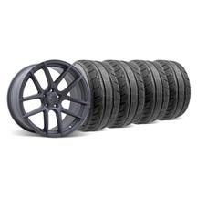 Mustang Velgen VMB5 Wheel & Tire Kit - 20x9/10.5 Matte Gun Metal (05-14)