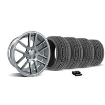 Mustang Velgen VMB6 Wheel & Tire Kit - 20x9/10.5 Matte Gunmetal (05-14)