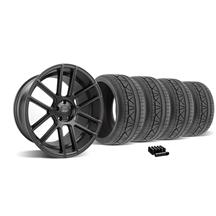 Mustang Velgen VMB6 Wheel & Tire Kit - 20x9/10.5 Satin Black (05-14)